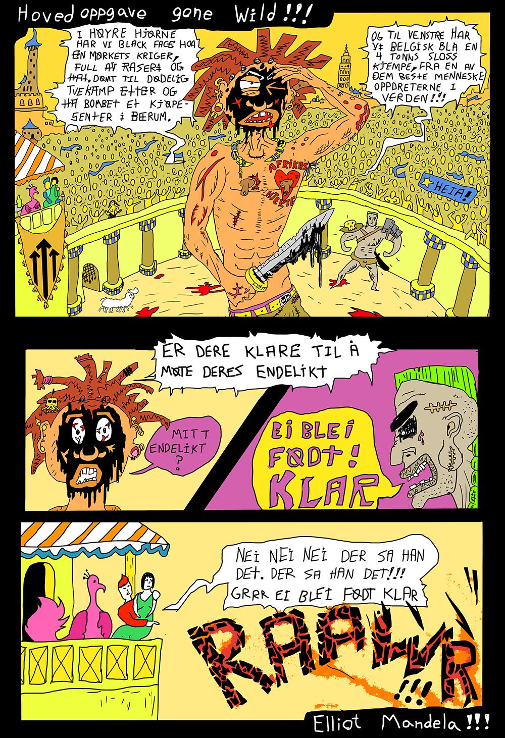 Tegnet av Elliot Mandela