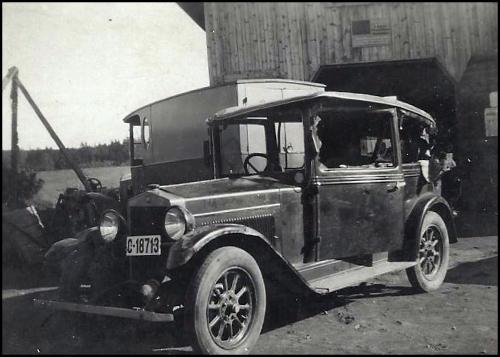 Bulket bil til oppretting