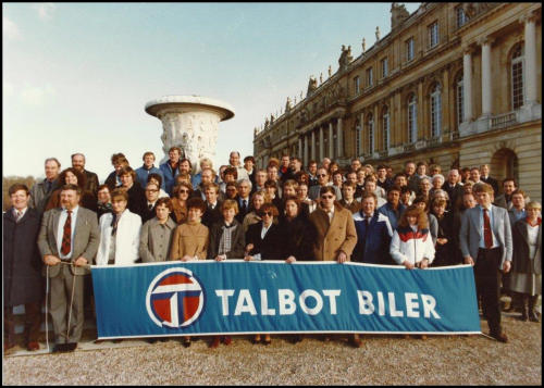 Forhandlertur 1979 her utenfor Versailles