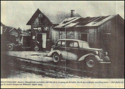 Starten på firmaet var her i 1922